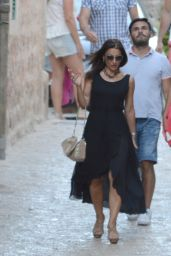 Ana Ivanovic Displays Her Long Legs in Shorts - Out in Mallorca, Spain - July 2014