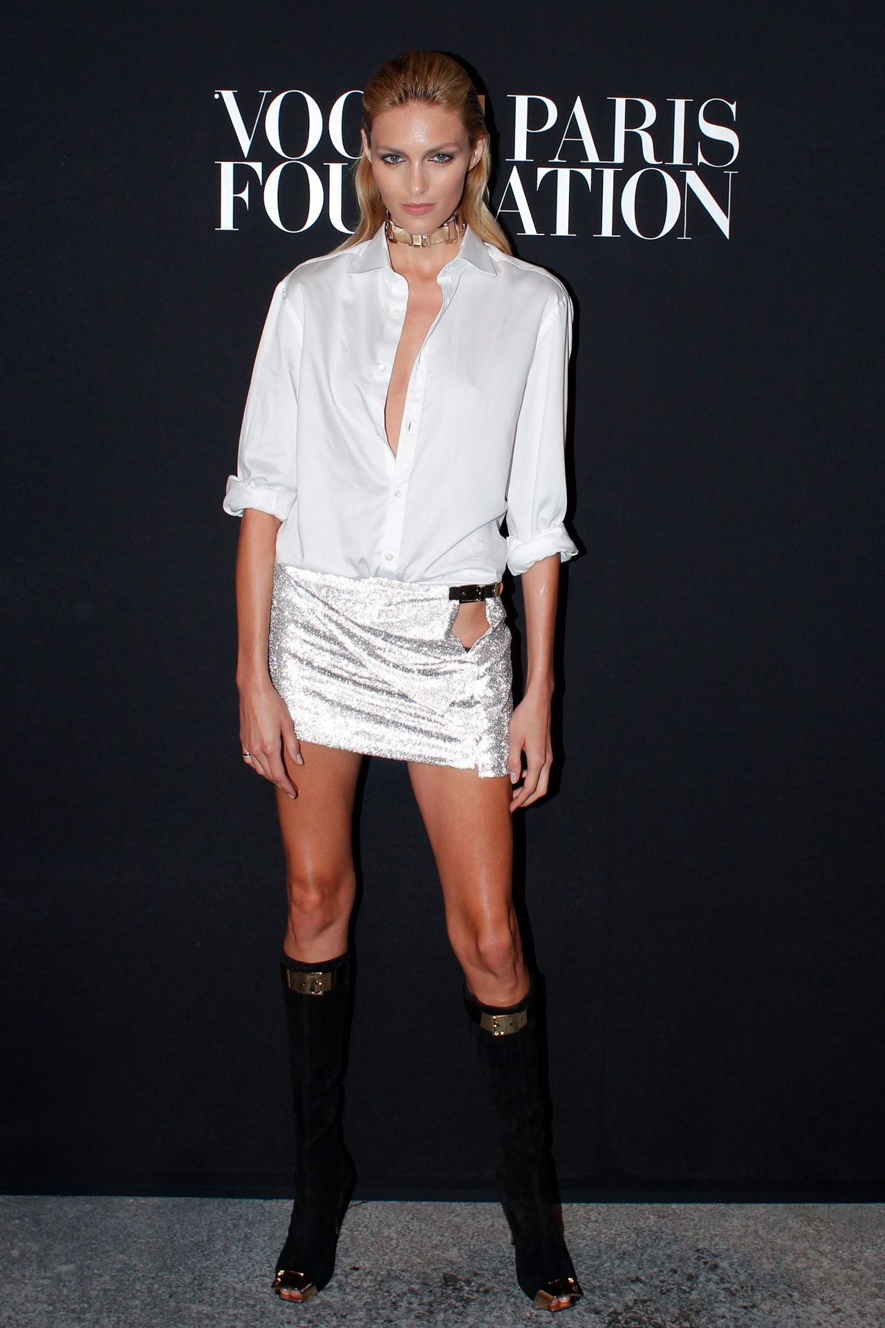 Anja Rubik at Vogue Foundation Gala - July 2014