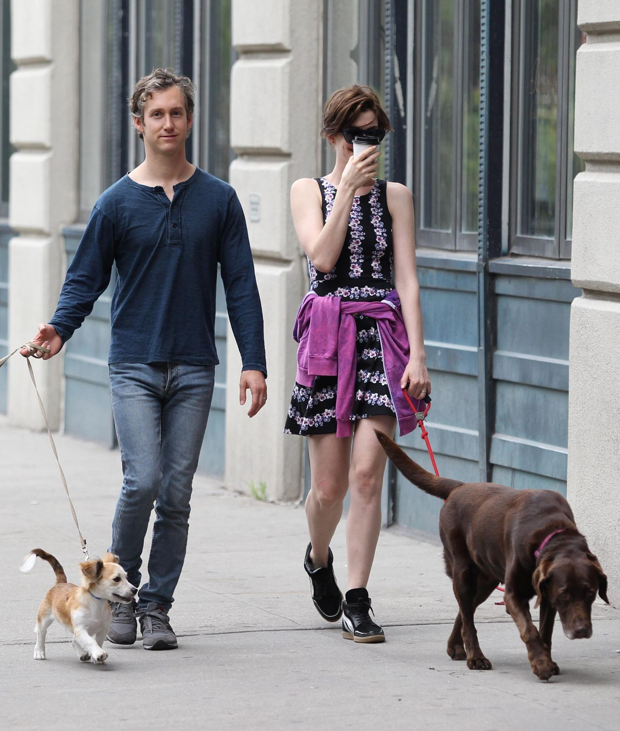 Anne Hathaway With Her Husband