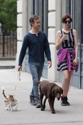 Anne Hathaway With Her Husband - Out in New York City - July 2014
