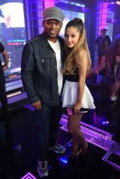 Ariana Grande on the Set of MTV