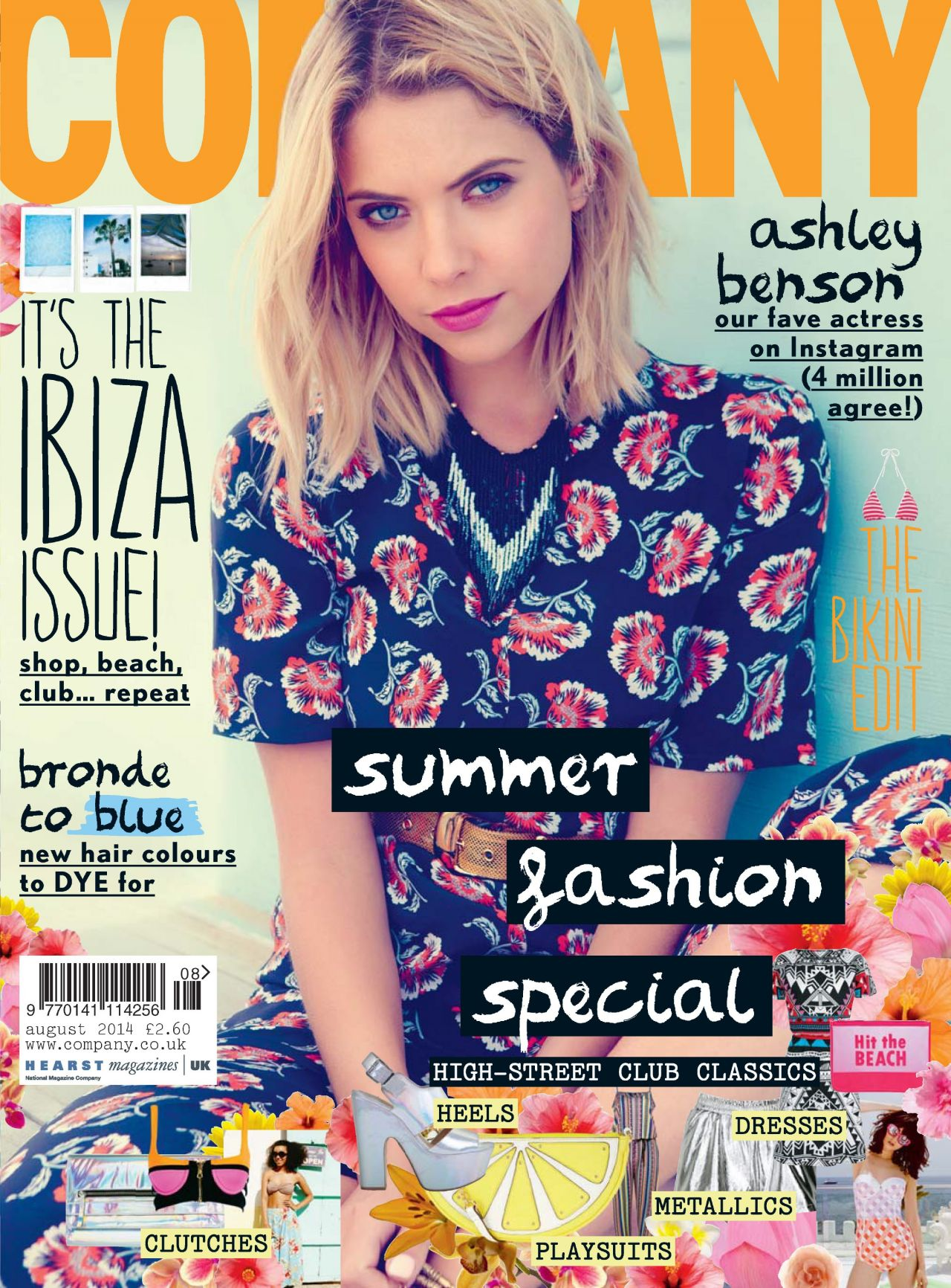 Ashley Benson - Company Magazine (UK) - August 2014 Cover