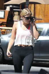 Ashley Benson in Tights - Starbucks in LA, July 2014