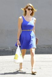 Ashley Greene in Blue Mini Dress - Out in West Hollywood - July 2014