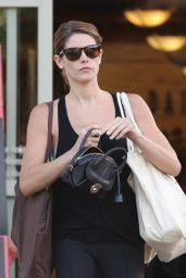 Ashley Greene in Leggings - Bristol Farms Shopper, July 2014