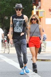 Ashley Tisdale and Her Fiance Christopher French Out in East Village in New York City - July 2014
