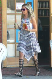 Ashley Tisdale in Bohemian-Style Dress and Gladiator-Style Sandals - Out in Toluca Lake