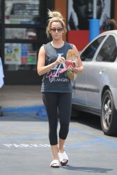 Ashley Tisdale - Leaving a Rite Aid Shop in L.A. - July 2014