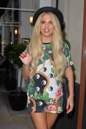 Bianca Gascoigne Leggy - Soho Sanctum Hotel in London - July 2014