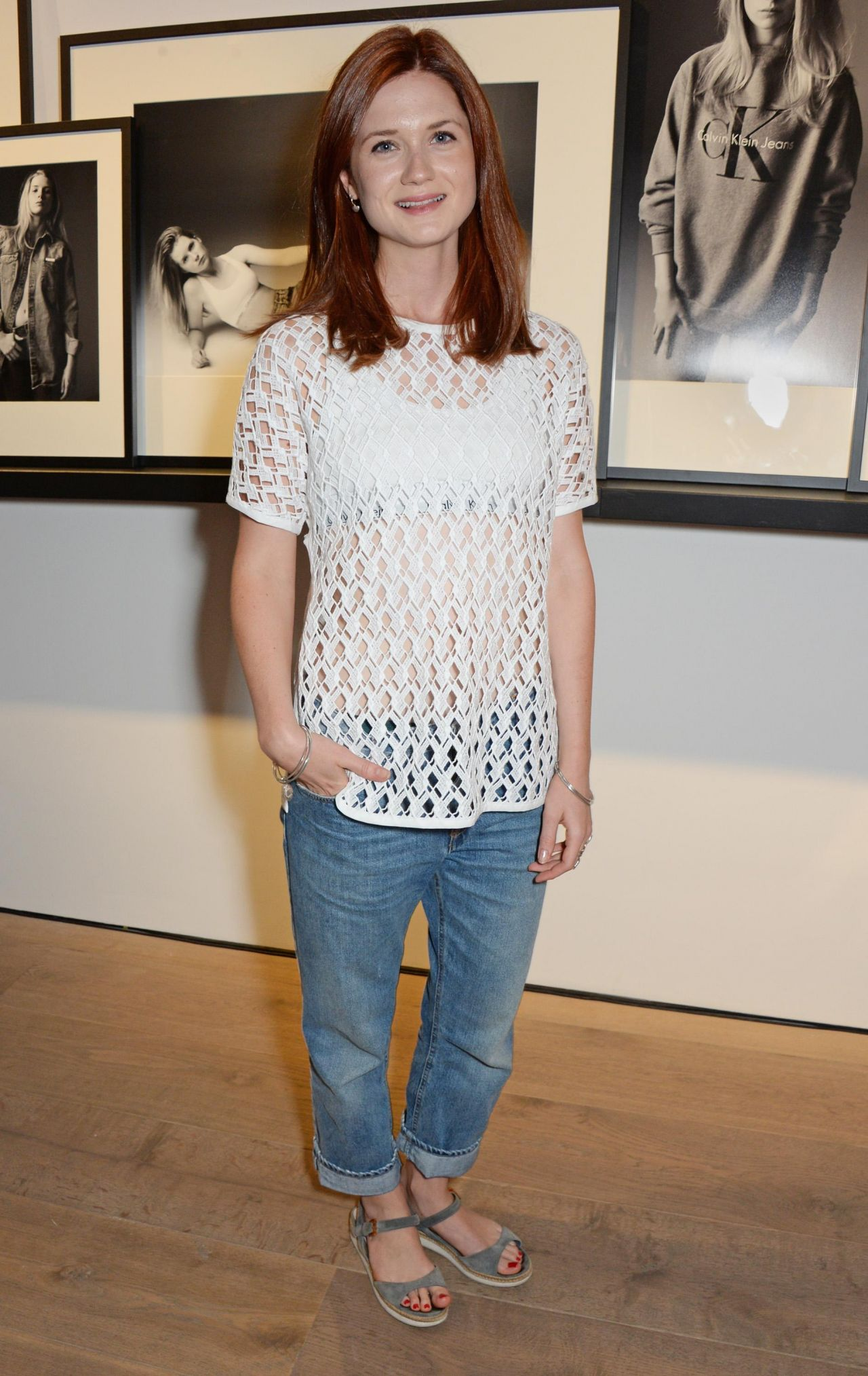 Bonnie Wright At Calvin Klein Jeans X Mytheresa Com Party