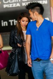 Brenda Song and Younger Brother Nathan - Shopping in Woodland Hills