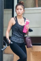 Brenda Song in Leggings - Leaving a Gym in Studio City - July 2014