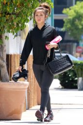 Brenda Song in Tights - Going to a Gym in Beverly Hills - July 2014