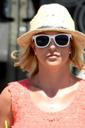 Britney Spears Shows Off Her Legs in Shorts - Leaving Starbucks in Westlake Village