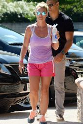Britney Spears Sports Shorts in Calabasas - July 2014
