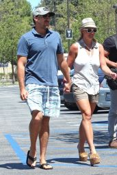 Britney Spears Street Style - Out in Los Angeles, July 2014