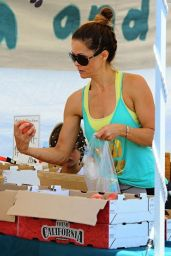 Brooke Burke in Tights at the Farmers Market in Malibu - July 2014
