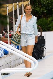 Cameron Diaz at Hotel Pool in Miami - July 2014