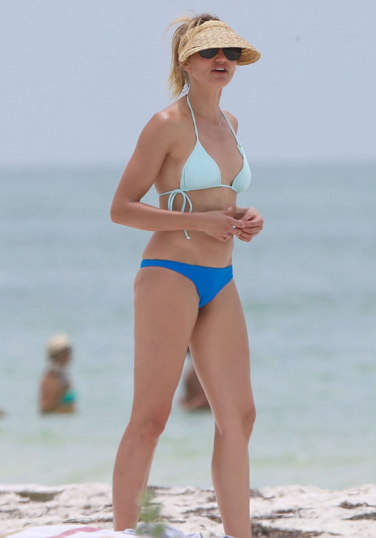 Cameron Diaz Bikini Candids - Beach in Florida, July 2014