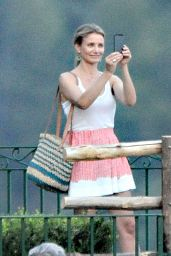 Cameron Diaz on a Boat in Italy - July 2014