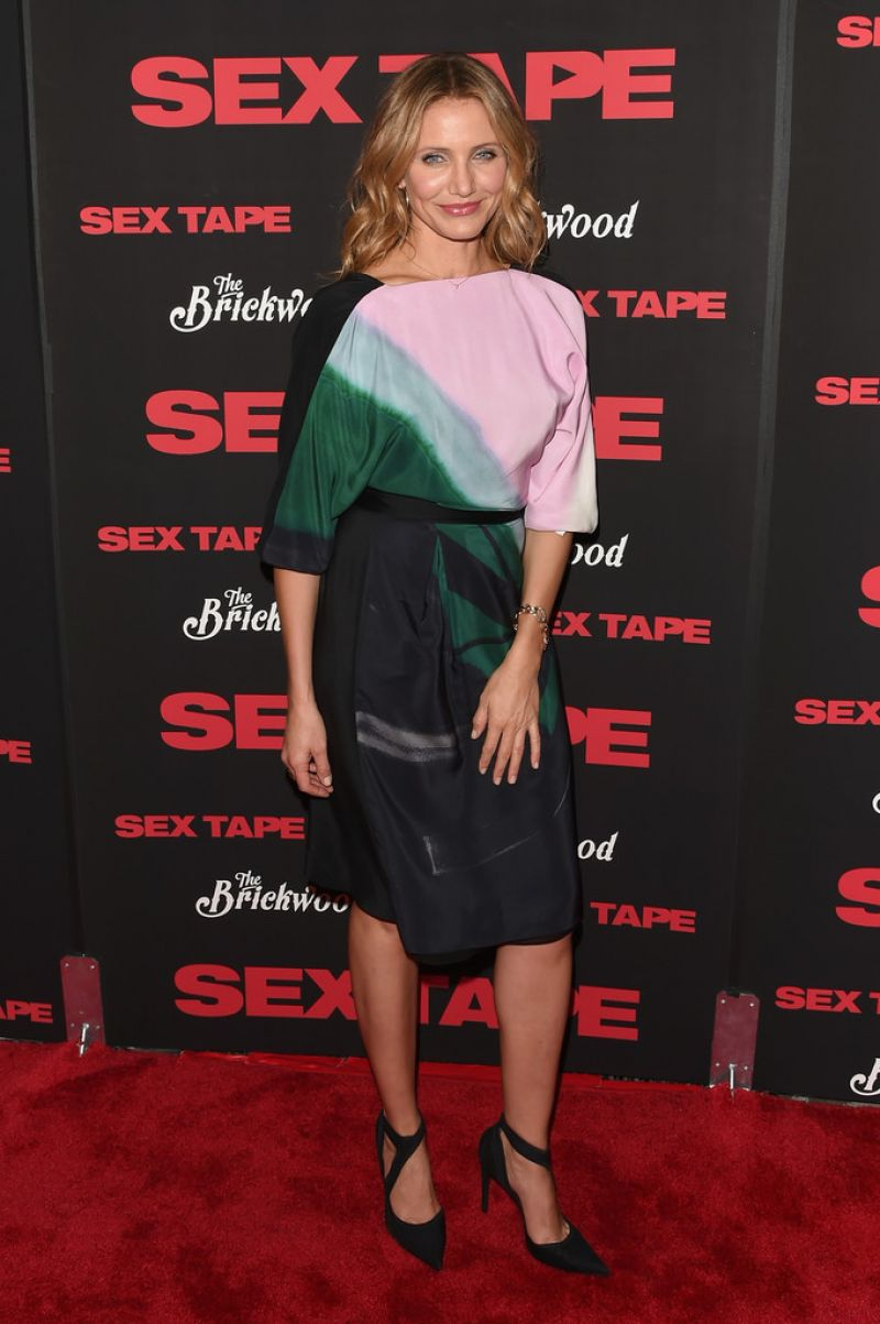 Cameron Diaz  Sex Tape Movie Premiere In New York City-6680