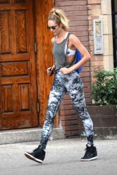 Candice Swanepoel Street Style - Out in New York City - July 2014
