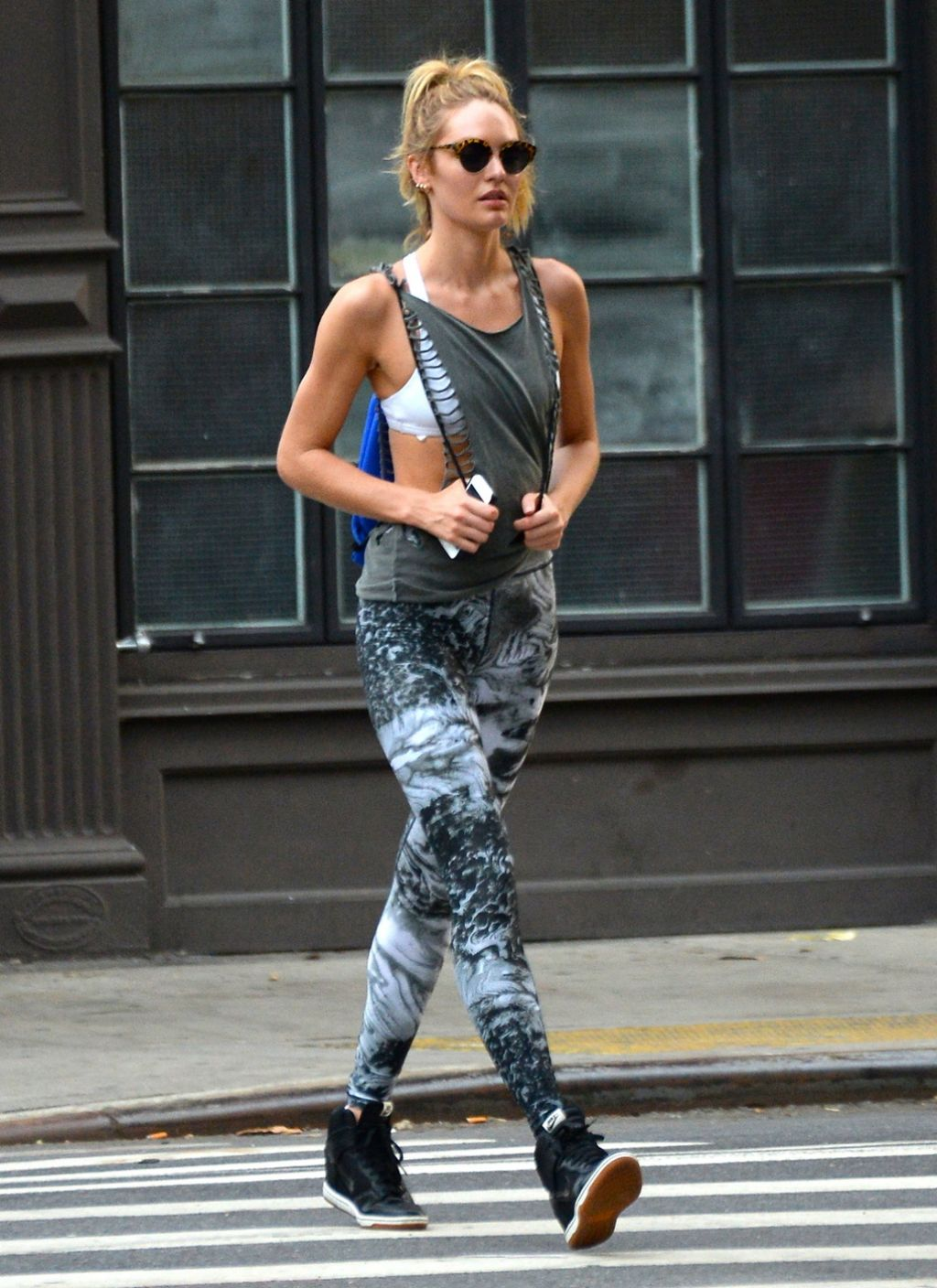 candice swanepoel street style out in new york city july 2014. Black Bedroom Furniture Sets. Home Design Ideas