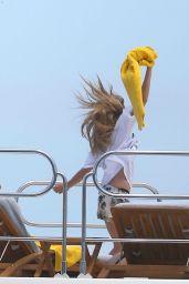 Cara Delevingne Celebrating Selena Gomez