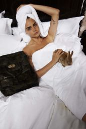 Cara Delevingne in Bed for Telegraph Magazine - July 2014