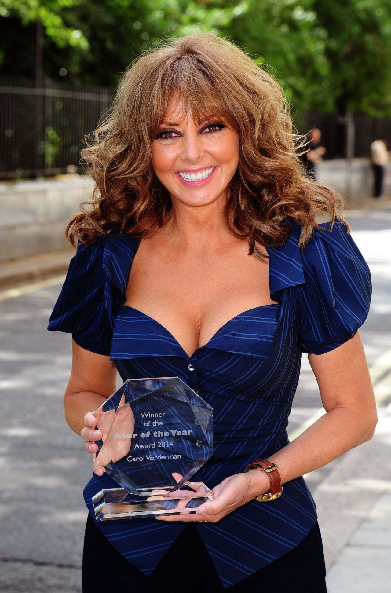 The Year S Of Living Non: Carol Vorderman Posing For The 2014 Rear Of The Year July 2014