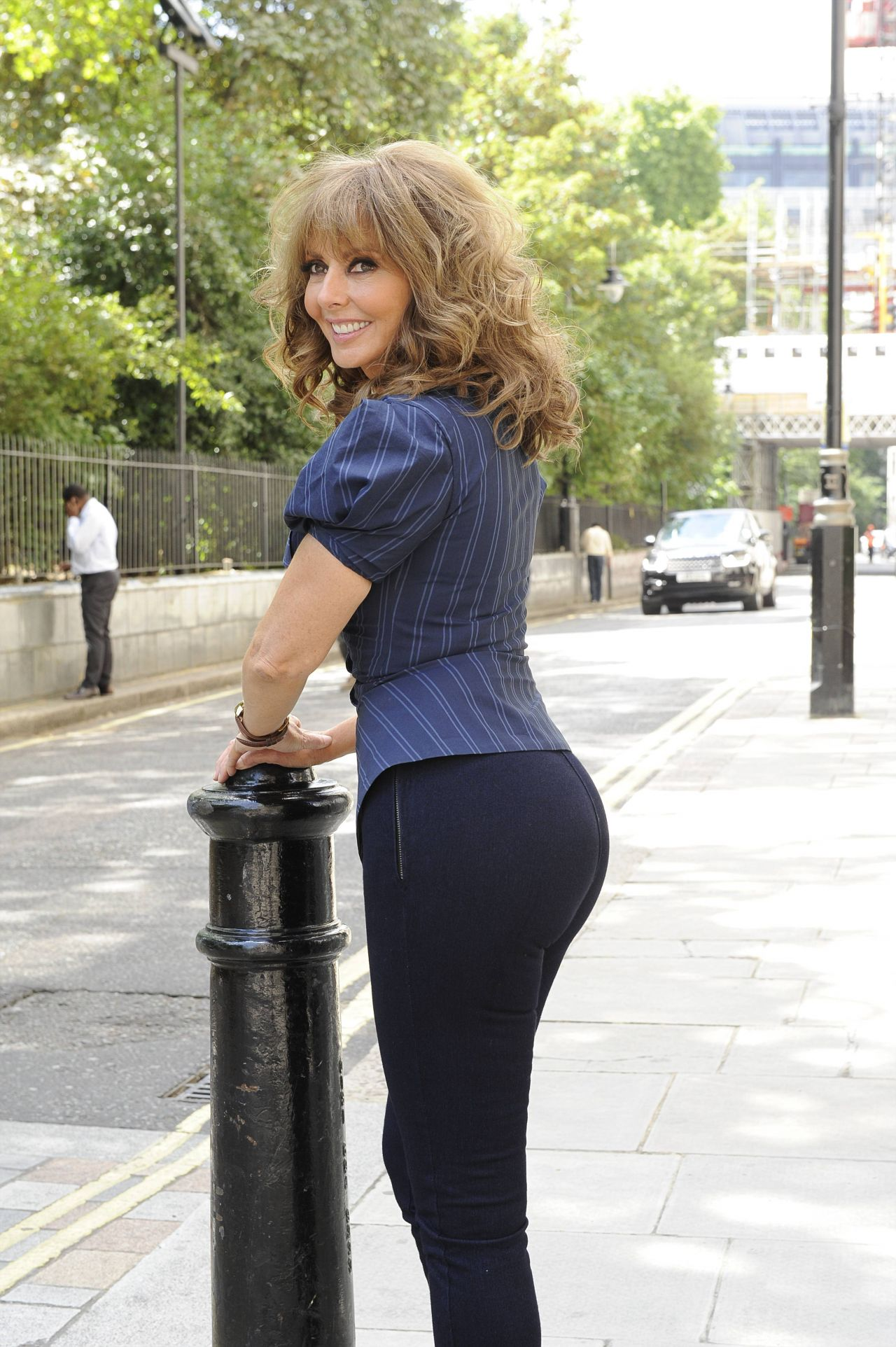 Carol Vorderman Posing For The 2014 Rear Of The Year July 2014-5349