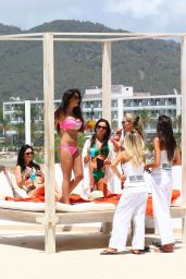 Casey Batchelor in a Bikini Poolside in Ibiza - July 2014