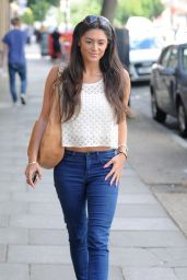 Casey Batchelor in Jeans - Visiting Fubar Radio in London - July 2014