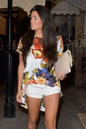 Casey Batchelor Night Out Style - Nozomi Restaurant in London - July 2014