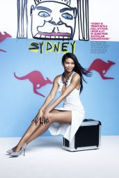 Chanel Iman - Cosmopolitan Magazine - March 2014 Issue