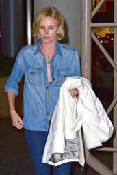 Charlize Theron Arriving at LAX Airport in Los Angeles - July 2014