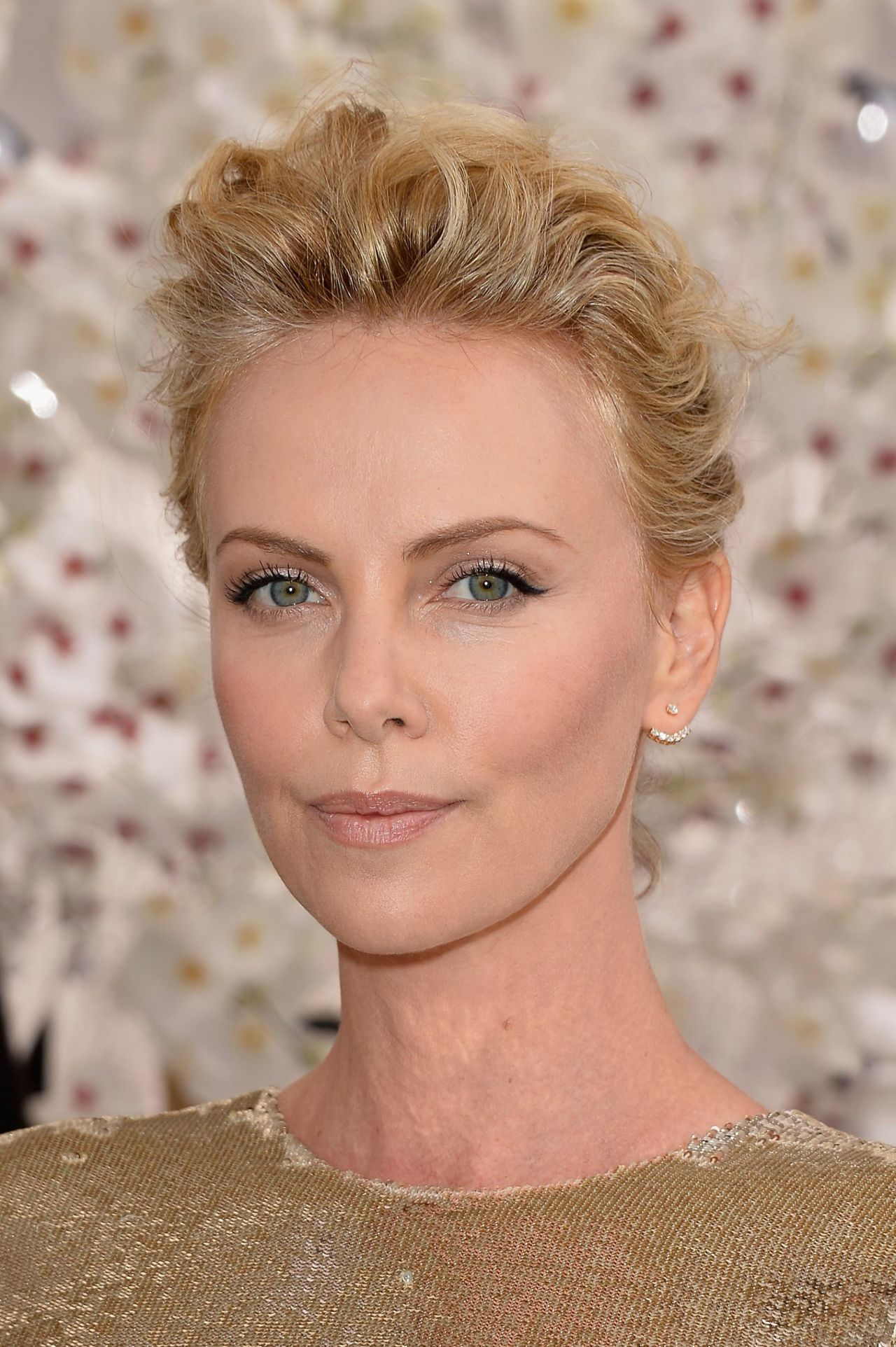 Charlize Theron In Versace For British Vogue: Christian Dior Fashion Show During Paris