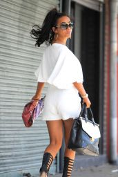 Chelsee Healey Shows Off Her Legs in White Shorts - Out in Worsley, Manchester - July 2014