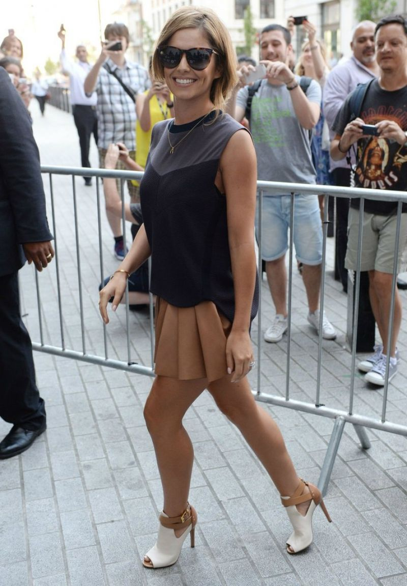 Cheryl Cole (Cheryl Fernandez-Versini) Arriving at Radio1 Studios in London - July 2014