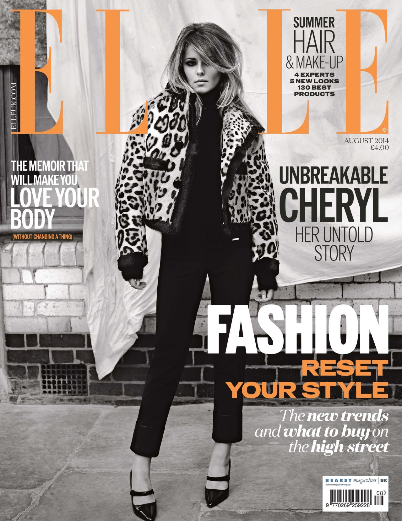Cheryl Cole - Elle Magazine (UK) - August 2014 Issue