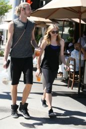 Chloe Moretz in Leggings - Out in Beverly Hills - July 2014