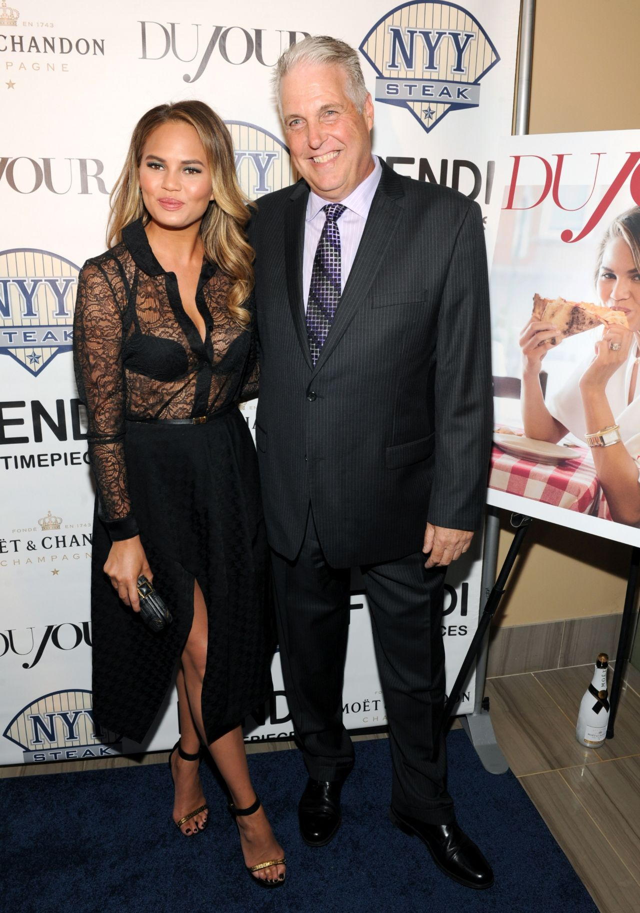 Chrissy Teigen - DuJour Magazine and NYY Steak Event - July 2014