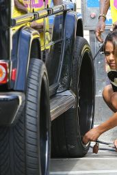 Christina Milian at a Gas Station in Los Felix - July 2014
