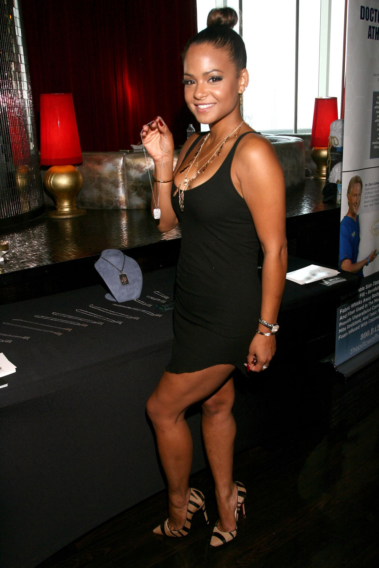 christina milian attends the gbk luxury sports lounge in