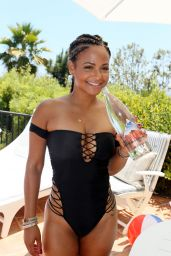 Christina Milian - Party at the Kia Motors Malibu Estate - July 2014