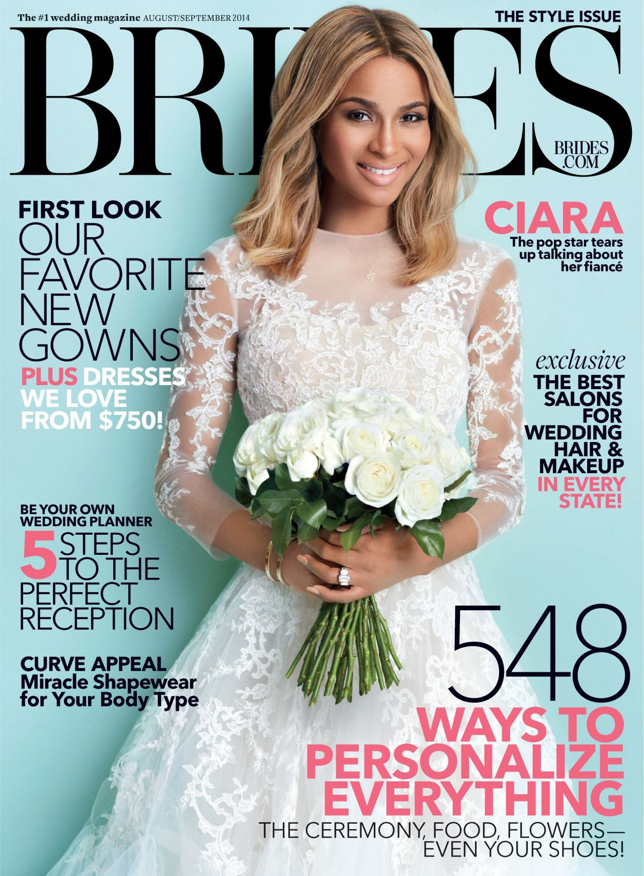 Ciara - Brides Magazine - August/September 2014 Cover