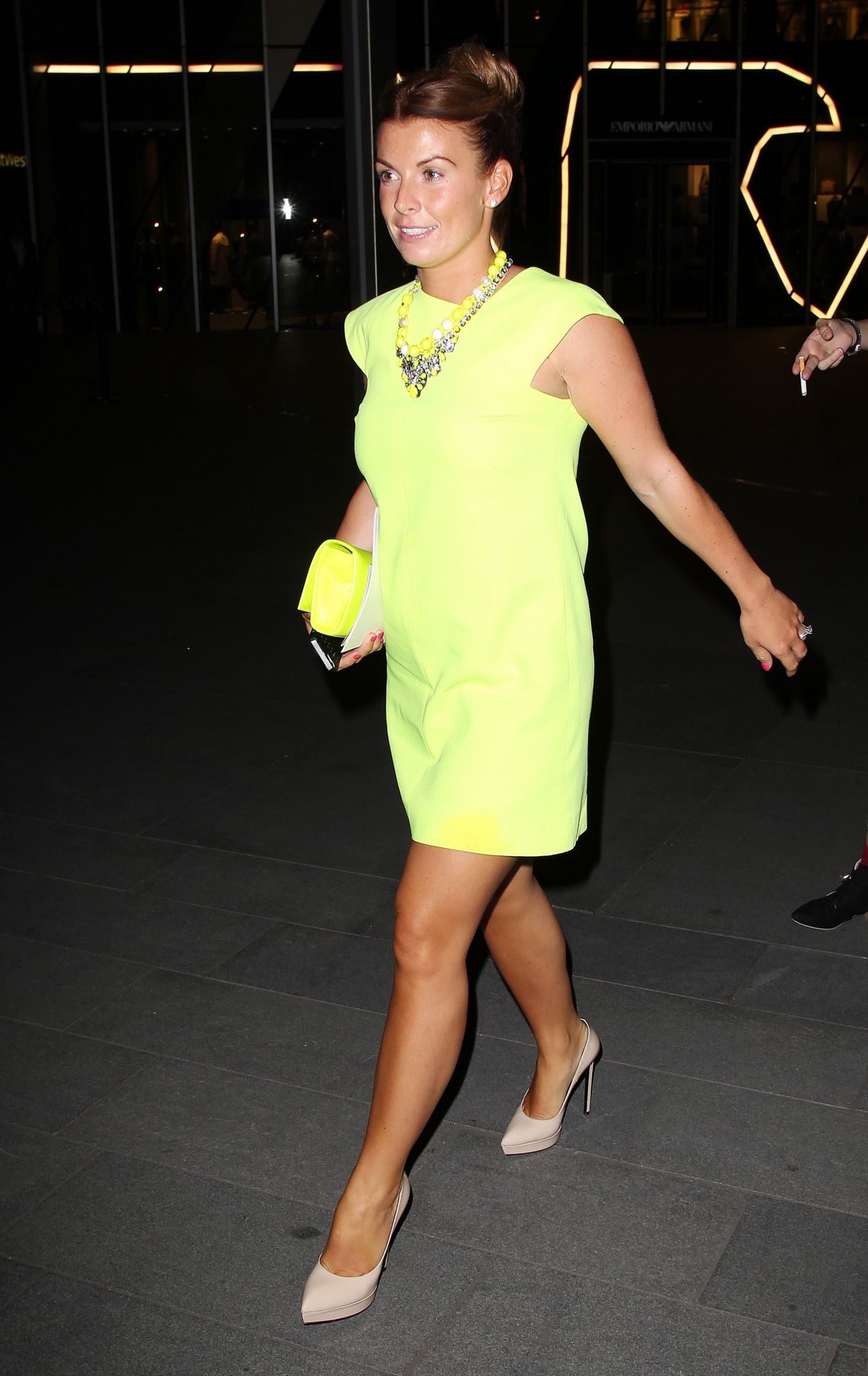 Coleen Rooney Night Out Style - Australasia Bar, June 2014