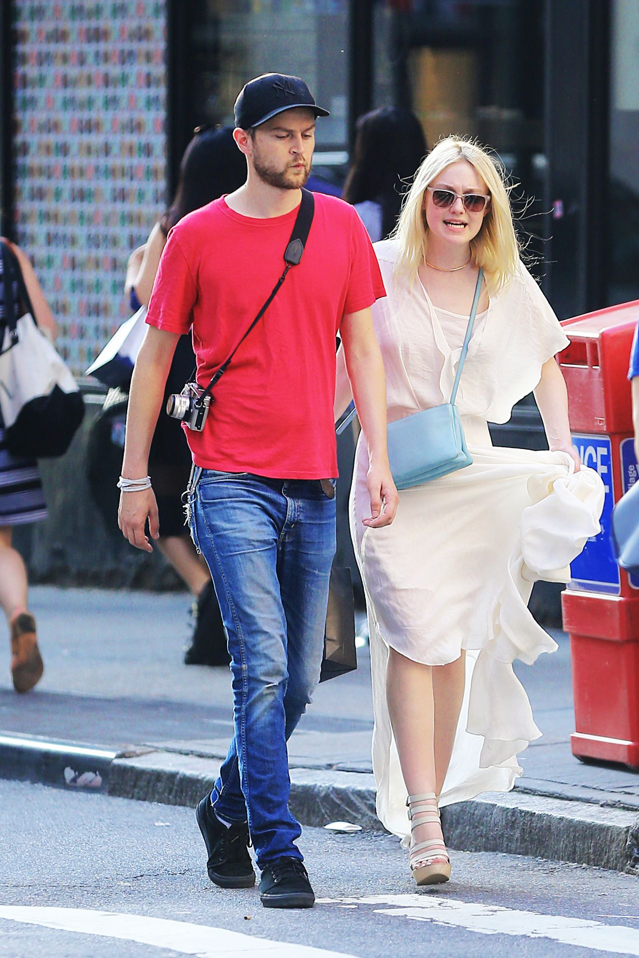 Dakota Fanning and Her Boyfriend Out in NYC - July 2014