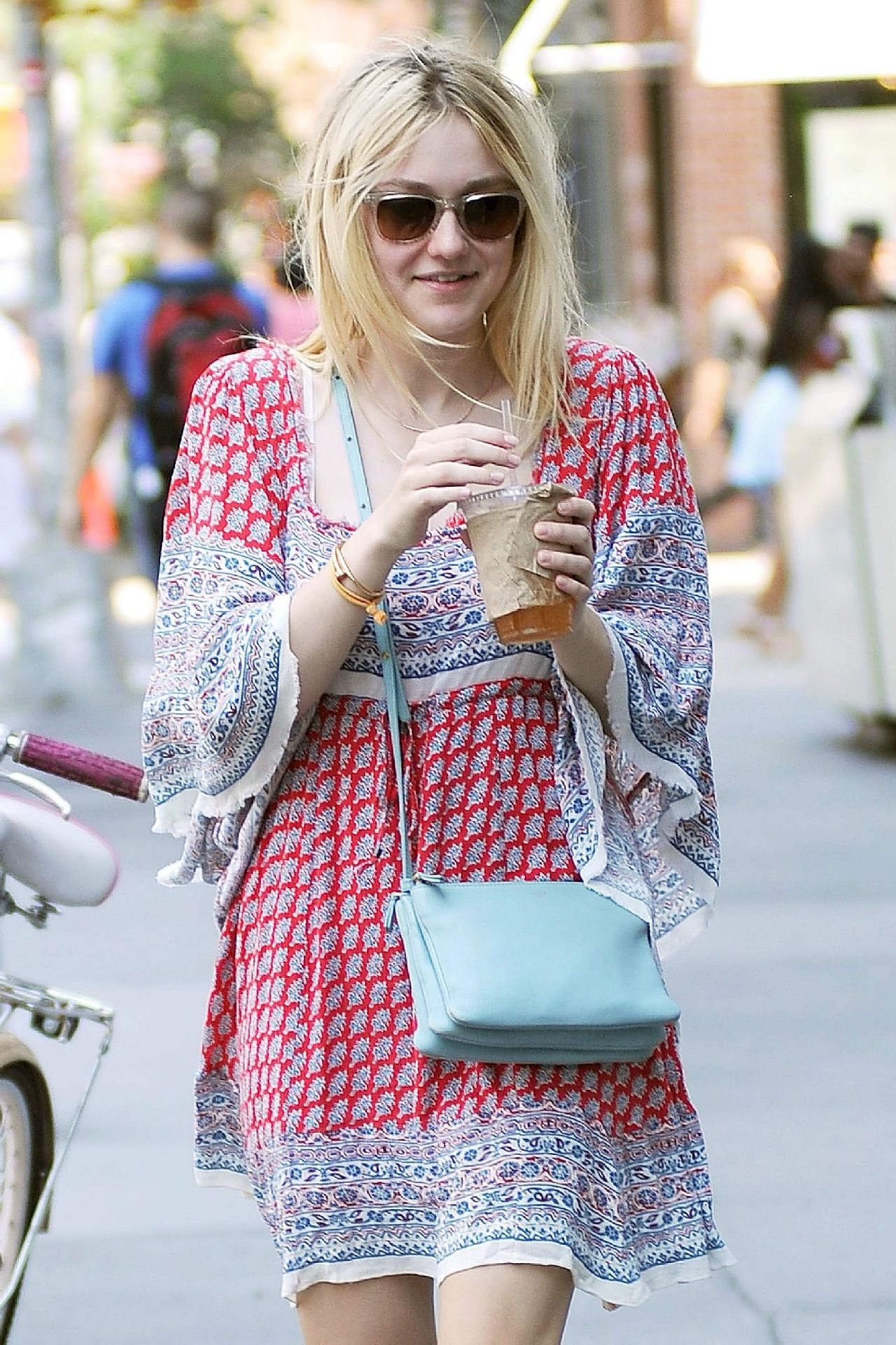 Dakota Fanning Casual Style - Out in NYC - July 2014