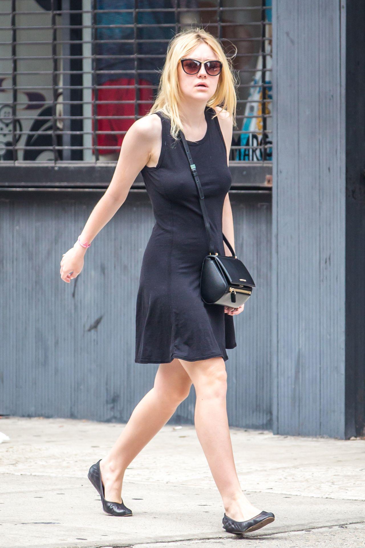 Dakota Fanning Out In Nyc July 2014